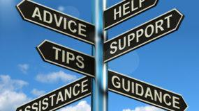 Do you need help with? Advice, help, support, and tips signpost.