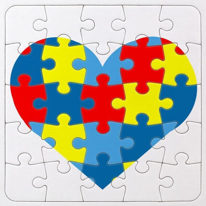 Autism Awareness Symbol Puzzle With Heart Dr Claudia Six Phd