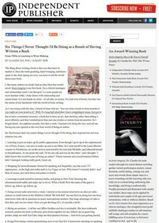 Independent Publisher article