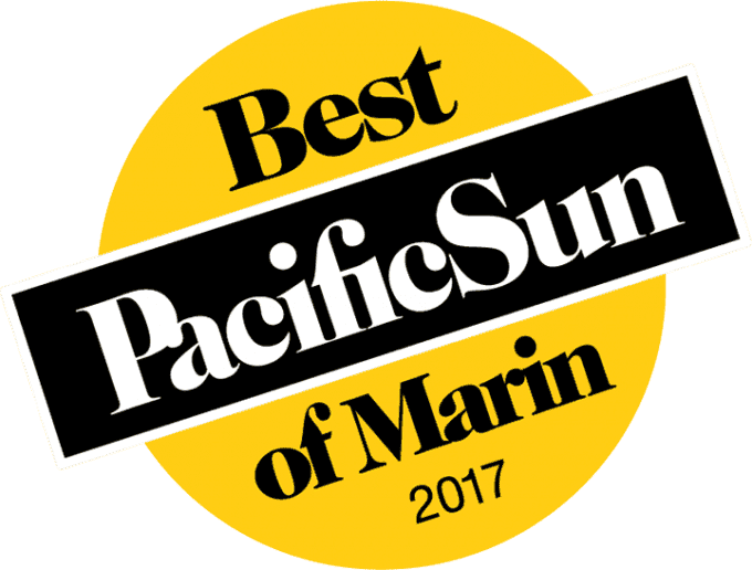 Pacific Sun Best of Marin 2017 badge