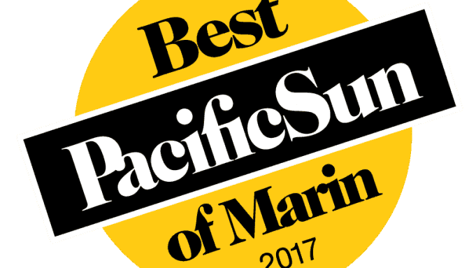 Voted Best Of Marin 2017 by Pacific Sun