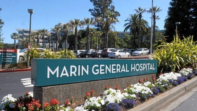 Entrance to Marin General Hospital