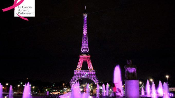 pink Eiffel Tower for Octobre Rose